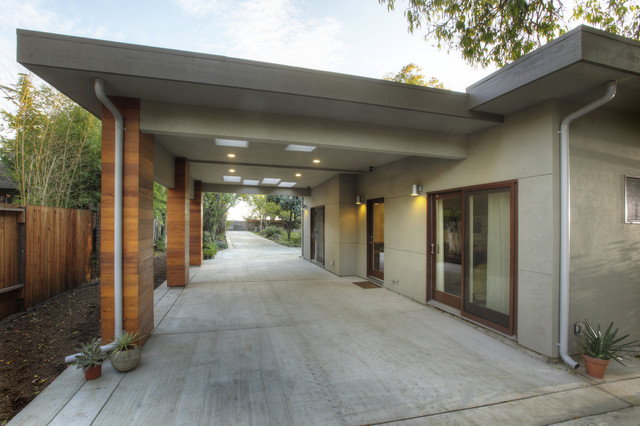 Carport modern exterior sacramento by mak design for Contemporary carport design architecture