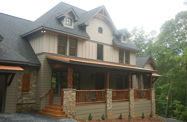 Rustic Home Exteriors carters lake lodge - traditional - exterior - atlanta -modern