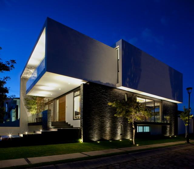 Dise o de fachadas e interiores de casas modernas taringa for Casa de diseno guadalajara