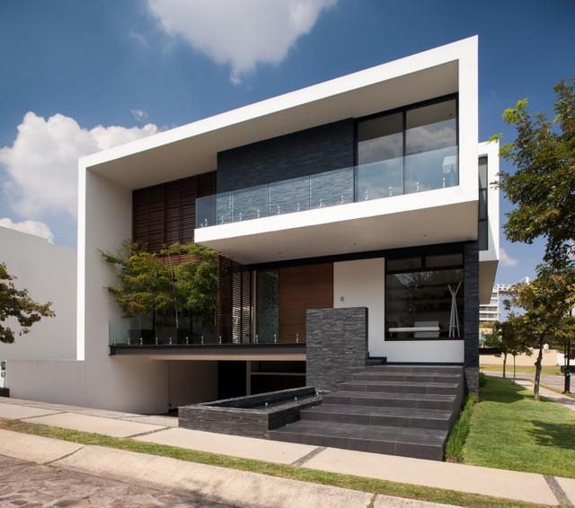 Casa guadalajara contempor neo fachada otras zonas for Casa minimalista 2018