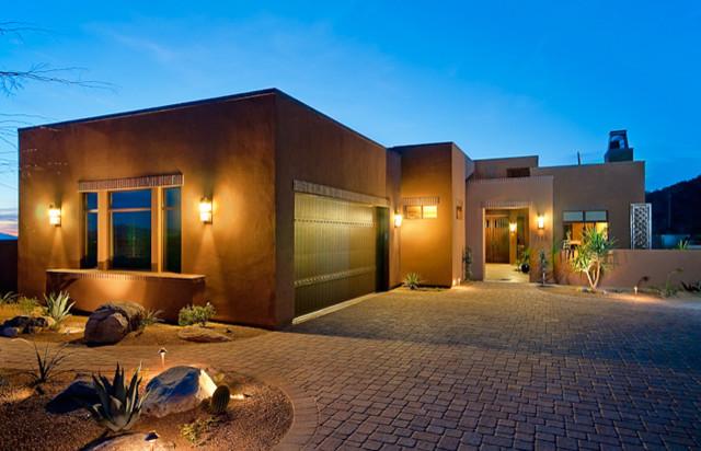 Casa - Tucson Territorial elevation mediterranean-exterior