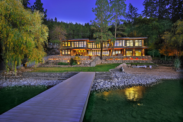 Example of a minimalist exterior home design in Vancouver