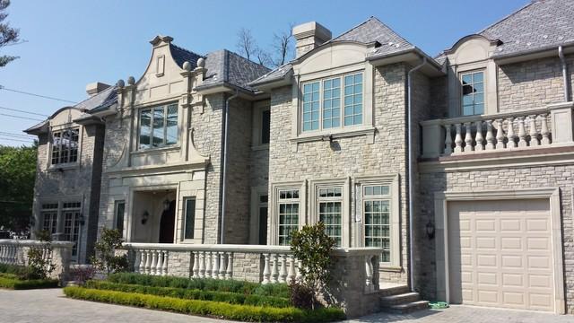 Cast Stone Facade, Long Island, NY traditional-exterior