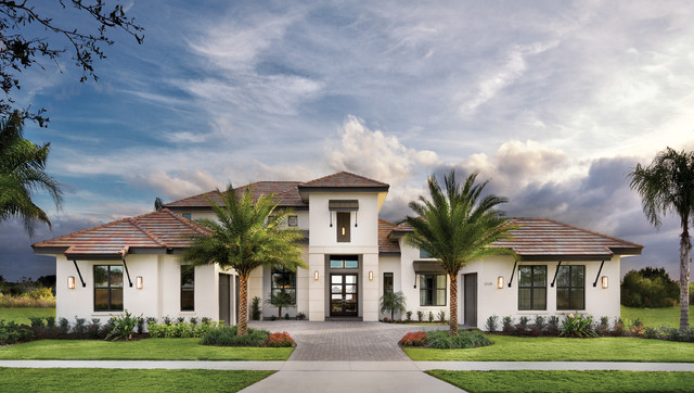 Castellina 1272 model home tropical exterior tampa by arthur rutenberg homes - Luxury beach home plans model ...