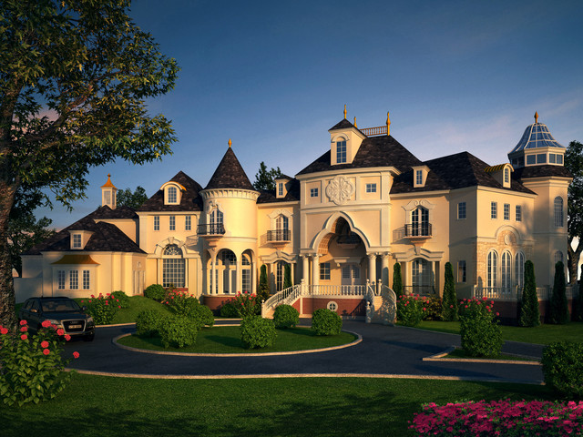 Castles mansions chateaux villa manor concept designs for French chateau exterior design