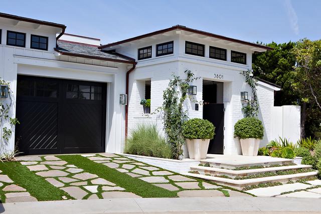 Casual family compound beach style exterior orange for Compound garden designs