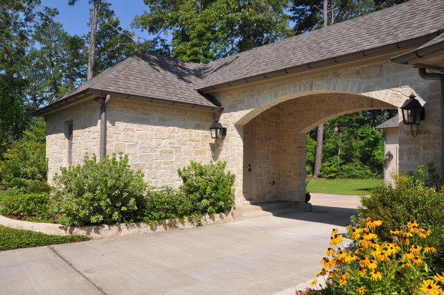 Casual french traditional exterior houston by for Porte french