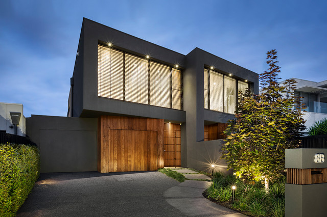 Webb st townhouse project modern exterior melbourne for Modern townhouse exterior