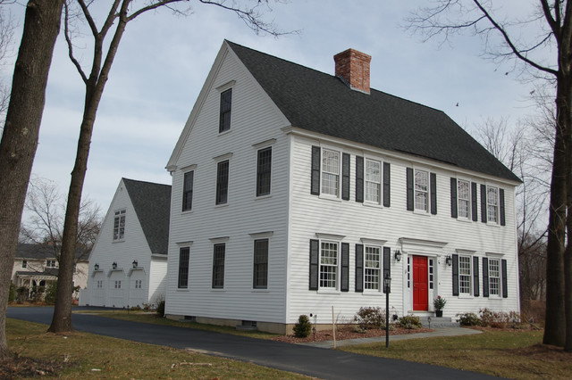 Cch residential settlement traditional exterior Colonial home builders
