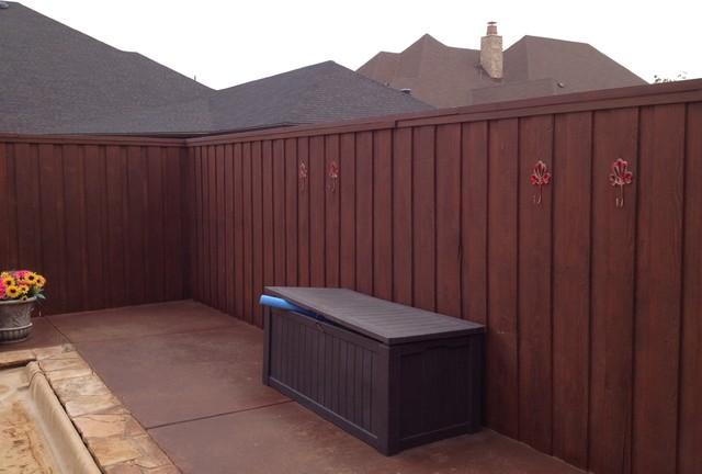 Cedar Fence Lastiseal Stain Sealer Modern Exterior