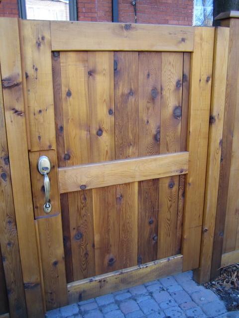 Cedar Fence With Custom Gates Contemporary Exterior