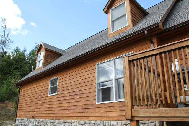 Cedar House Stained With Defy Extreme Wood Stain Rustic