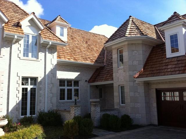 Cedar Roofing Installations traditional-exterior