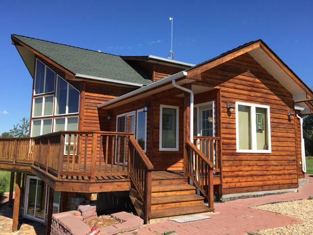 Cedar Siding Restoration Farmhouse Exterior Edmonton