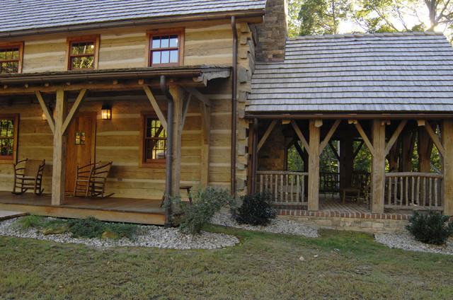 Central kentucky log cabin primitive kitchen traditional for Primitive cabin plans