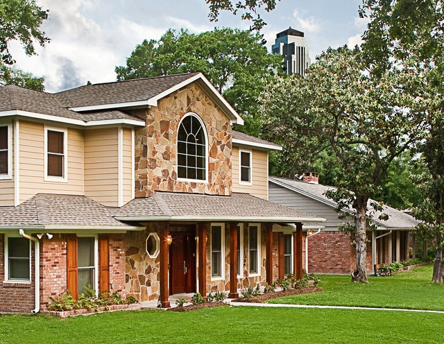 Certified green home traditional exterior houston for Green certified home