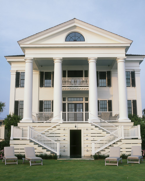 Greek Revival Style House In White
