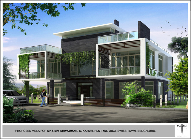 Chaitanya vihar 286 3 swiss town bangalore 562110 india Indian modern home design images