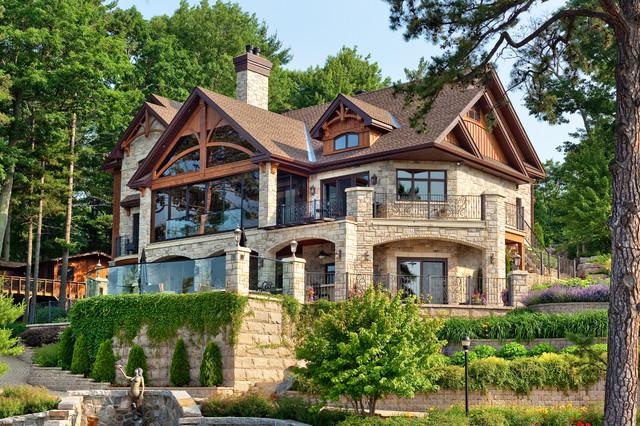 Chalet architecture ontario canada rustic exterior for Home designs ontario