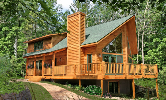Chalet Lake Cottage Rustic Exterior Minneapolis By