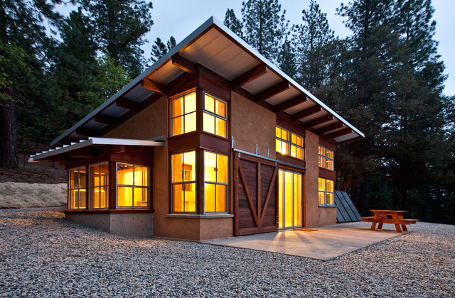 Chalk Hill Off-Grid Cabin rustic-exterior