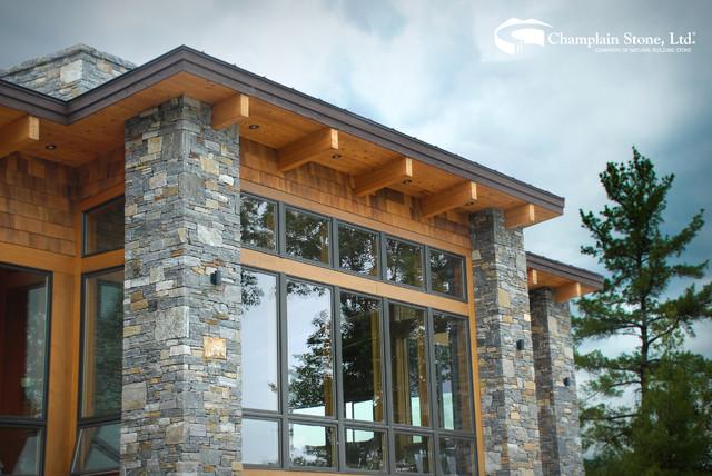 Marble Green Commercial Building Exteriors : Champlain stone contemporary exterior sacramento