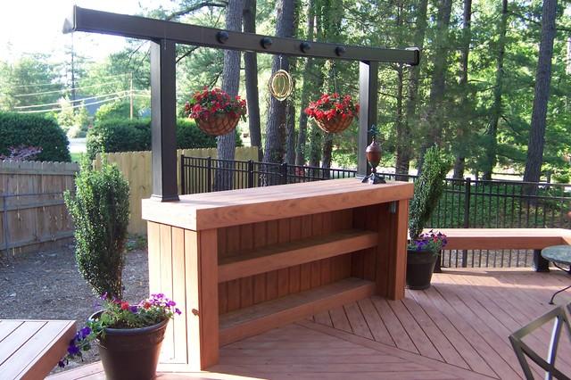 Chapman timbertech deck bench and bar exterior