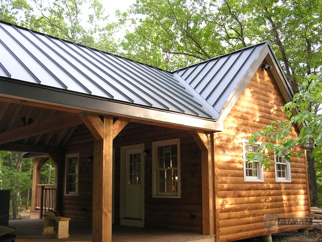 Charcoal Gray Metal Roofing Traditional Exterior