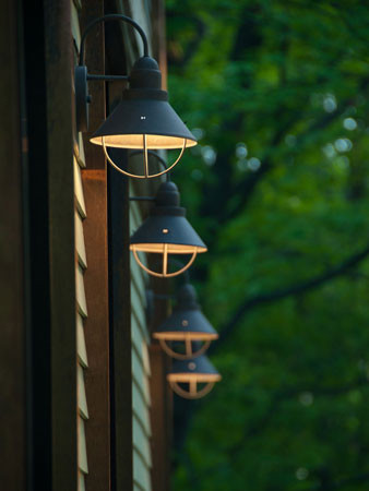 Exterior Lighting - Charlotte, VT Residence - Studio III architects