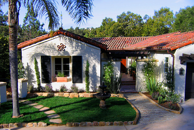 Charming spanish revival home in montecito california for Spanish style exterior