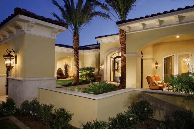 Chic luxury mediterranean exterior other metro by for Luxury house exterior designs