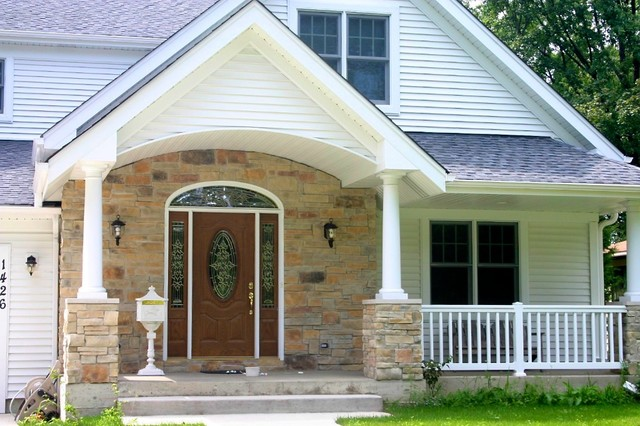 North Star Stone Stone Fireplaces Stone Exteriors: Chicago Are Exterior Stone Siding Transformation