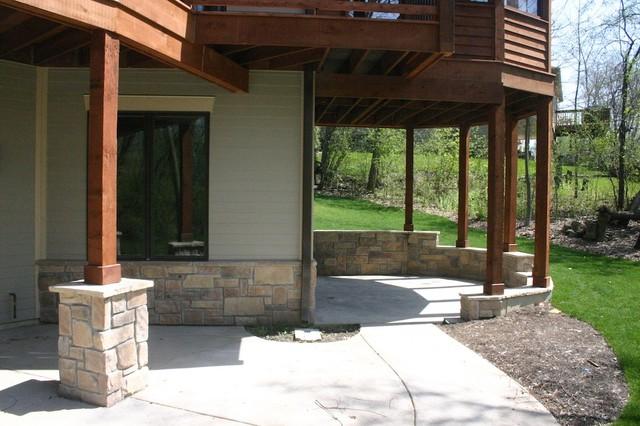 Chicago Are Exterior Stone Siding Transformation traditional-exterior