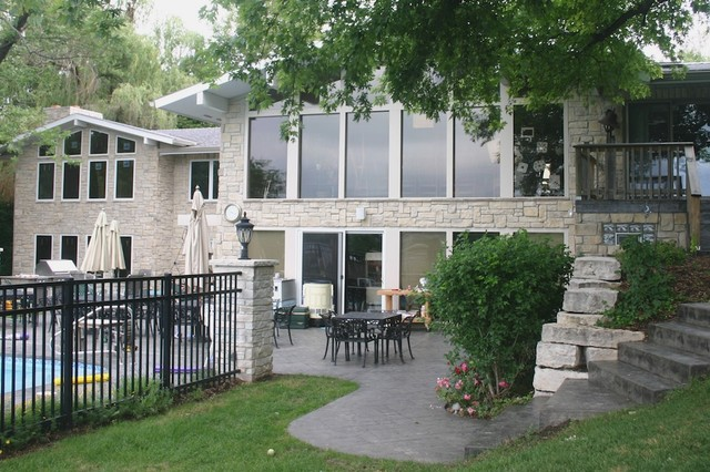 Chicago Are Exterior Stone Siding Transformation traditional exterior