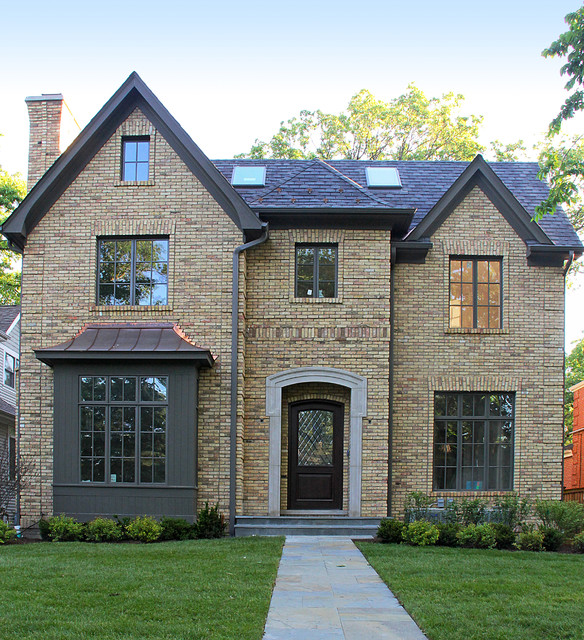 Chicago buff house traditional exterior chicago by for Brick traditional homes