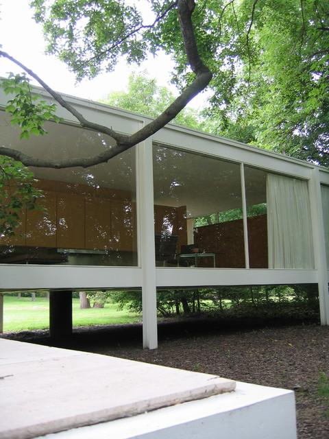 Chicago mid-century - Farnsworth House modern-exterior