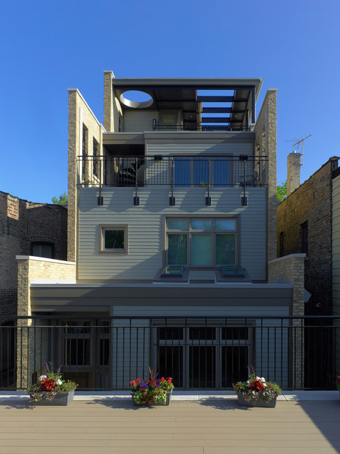 Chicago residence leed for homes gut rehab exterior for Leed for homes provider
