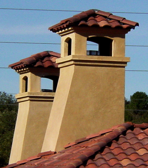 Chimney Caps Mediterranean Exterior Austin By Asomoza Homes Design