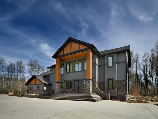 Chrenek renovation modern exterior edmonton by for New modern homes edmonton
