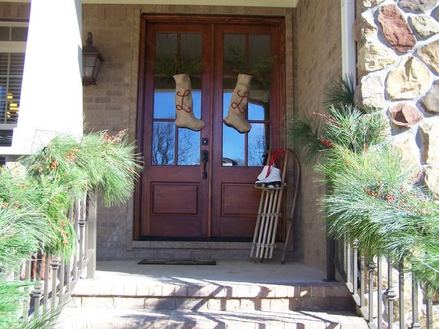 Exterior Christmas Front Door