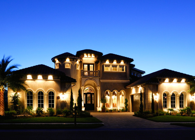 Christopher burton luxury homes mediterranean exterior for Luxury outdoor lighting