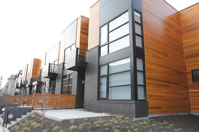 Citizen 6 Row Houses Modern Exterior Richmond By