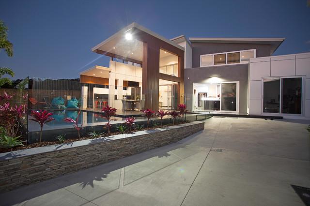 City abode new home contemporary exterior brisbane for Architecture design studio pty ltd
