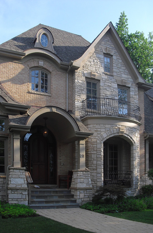 What kind color stone have you used on tis elevation for Brick and stone elevations
