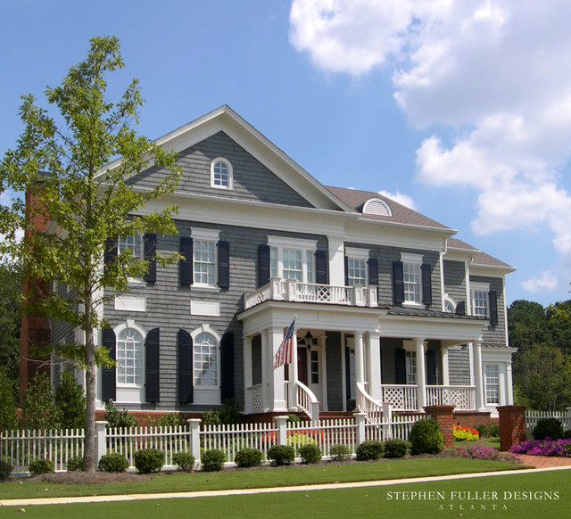 Classic american house for New american style house plans