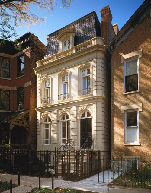 Classic french manor lincoln park chicago victorian for Classic home exteriors