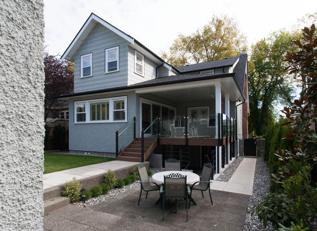 Traditional exterior home idea in Vancouver