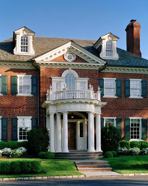 Classic mid atlantic georgian traditional exterior for Classic homes llc