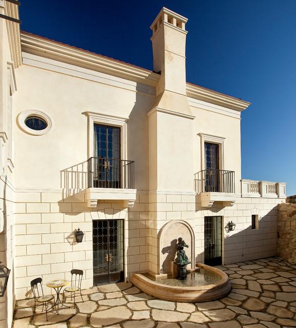 Classic Palladian Villa Mediterranean Exterior Santa