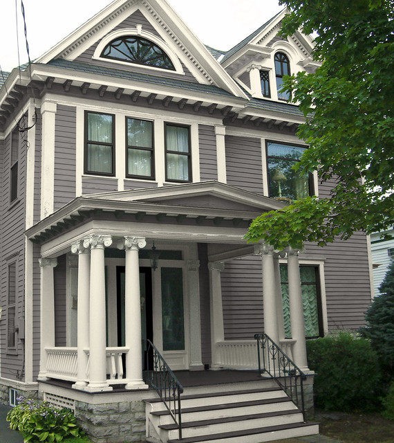 Classic revival exterior paint colors traditional for Classic house builders